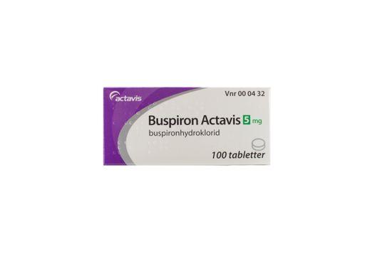 Buspiron Actavis Tablett 5 mg Buspiron 100 styck