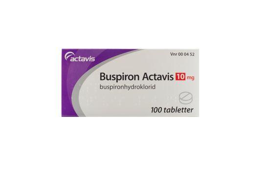 Buspiron Actavis Tablett 10 mg Buspiron 100 styck