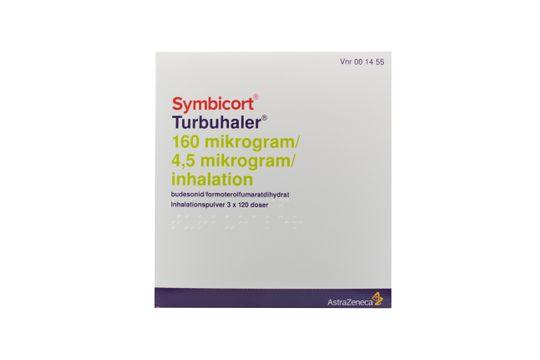 Symbicort Turbuhaler Inhalationspulver 160 mikrogram/4,5 mikrogram/inhalation Budesonid + formoterol 3 x 120 dos(er)