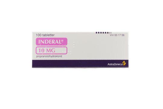 Inderal Tablett 10 mg Propranolol 100 styck