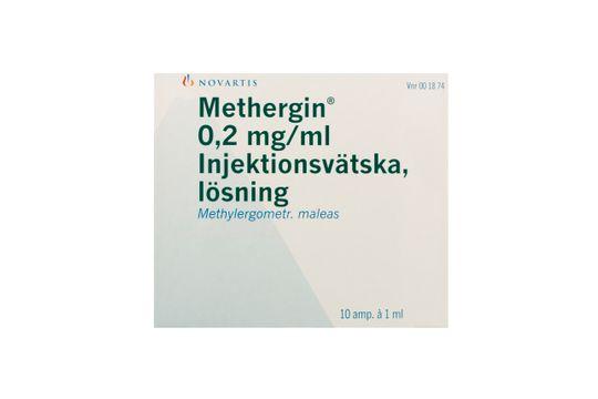 Methergin Injektionsvätska, lösning 0,2 mg/ml 10 x 1 milliliter