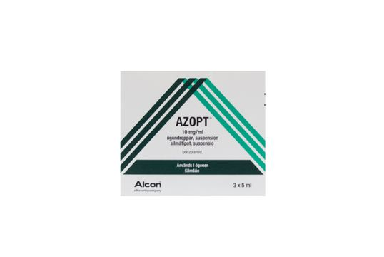 AZOPT Ögondroppar, suspension 10 mg/ml Brinzolamid 3 x 5 milliliter