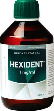 Hexident 1 mg/ml Klorhexidin, munsköljvätska, 300 ml