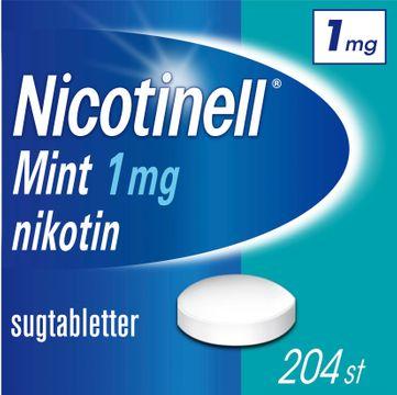 Nicotinell Mint 1 mg Nikotin, komprimerad sugtablett, 204 st