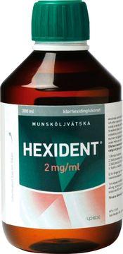 Hexident 2 mg/ml Klorhexidin, munsköljvätska, 300 ml