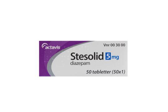 Stesolid Tablett 5 mg Diazepam 50 x 1 styck