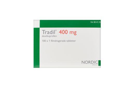 Tradil Filmdragerad tablett 400 mg 100 x 1 styck