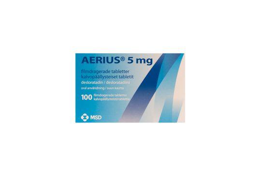 Aerius Filmdragerad tablett 5 mg Desloratadin 100 styck