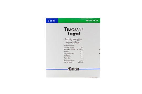 Timosan Depotögondroppar 1 mg/ml Timolol 3 x 5 milliliter