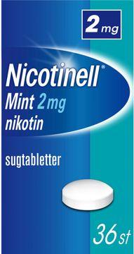 Nicotinell Mint Komprimerad sugtablett med nikotin, 2 mg, 36 st