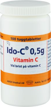 Ido-C 0,5 g Askorbinsyra, tuggtablett, 100 st