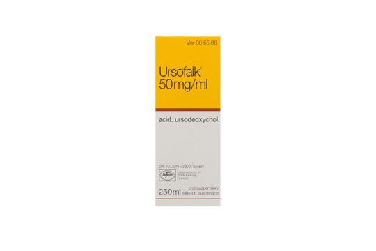 Ursofalk Oral suspension 50 mg/ml 250 milliliter