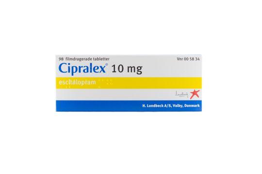 Cipralex Filmdragerad tablett 10 mg Escitalopram 98 styck