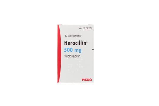 Heracillin Filmdragerad tablett 500 mg Flukloxacillin 30 styck