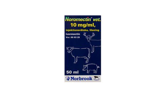 Noromectin vet. Injektionsvätska, lösning 10 mg/ml 50 milliliter