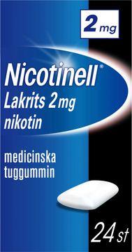 Nicotinell Lakrits Medicinskt nikotintuggummi, 2 mg, 24 st