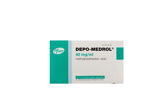 Depo-Medrol Injektionsvätska, suspension 40 mg/ml Metylprednisolon 10 x 2 milliliter