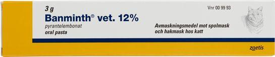 Banminth vet. 12% Pyrantelembonat, oral pasta, 3 g
