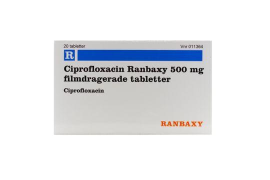 Ciprofloxacin SUN Filmdragerad tablett 500 mg Ciprofloxacin 20 tablett(er)