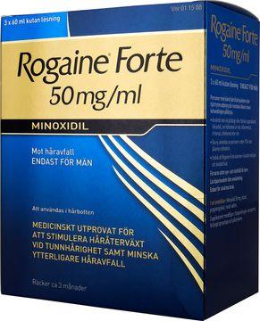 Rogaine forte 50 mg/ml Minoxidil, kutan lösning, 3x60 ml