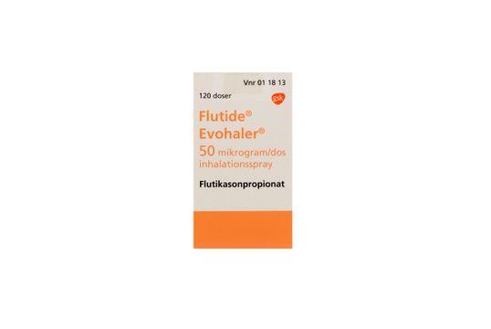 Flutide Evohaler Inhalationsspray, suspension 50 mikrogram/dos Flutikasonpropionat 120 dos(er)