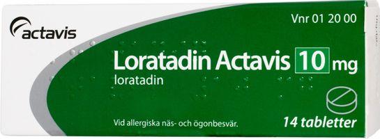 Loratadin Actavis Tablett 10 mg Loratadin 14 styck