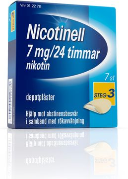 Nicotinell Depotplåster 7 mg/24 timmar, 7 st