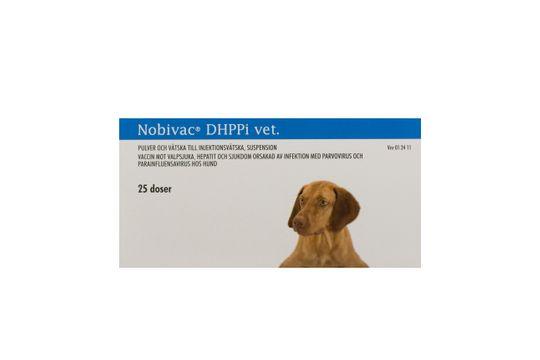 Nobivac DHPPi vet. Pulver och vätska till injektionsvätska, suspension 25 x 1 dos(er)