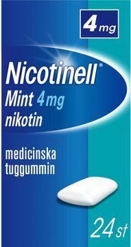 Nicotinell Mint Medicinskt nikotintuggummi, 4 mg, 24 st