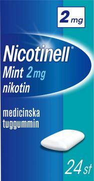 Nicotinell Mint Medicinskt nikotintuggummi, 2 mg, 24 st