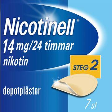 Nicotinell Depotplåster 14 mg/24 timmar, 7 st