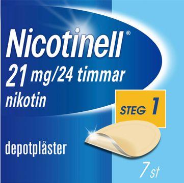 Nicotinell Depotplåster, 21 mg/24 timmar, 7 st