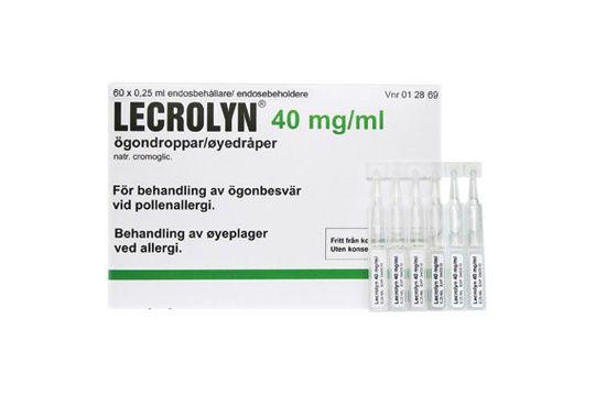 Lecrolyn 40 mg/ml Kromoglicinsyra, ögondroppar, 60x0,25 ml