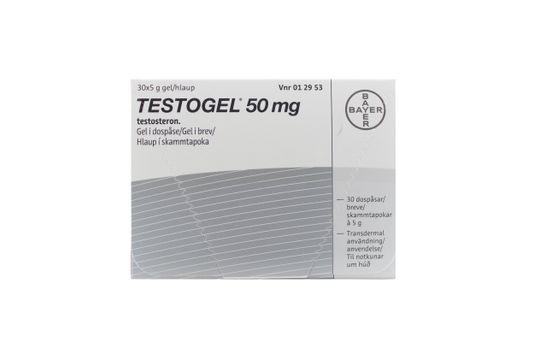 Testogel Gel i dospåse 50 mg Testosteron 30 styck