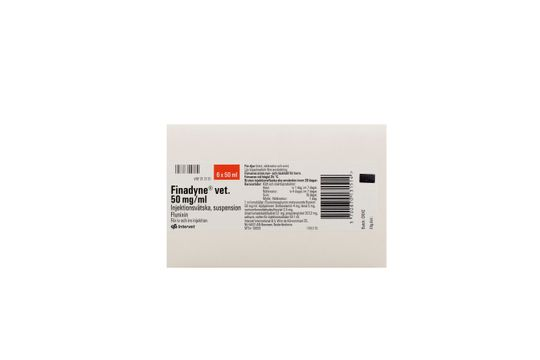 Finadyne vet. Injektionsvätska, suspension 50 mg/ml 6 x 50 milliliter