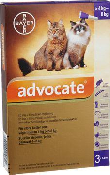 Advocate för stora katter Spot-on, lösning 80 mg/8 mg 3 x 0,8 milliliter