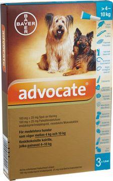 Advocate för medelstora hundar Spot-on, lösning 100 mg/25 mg 3 x 1 milliliter