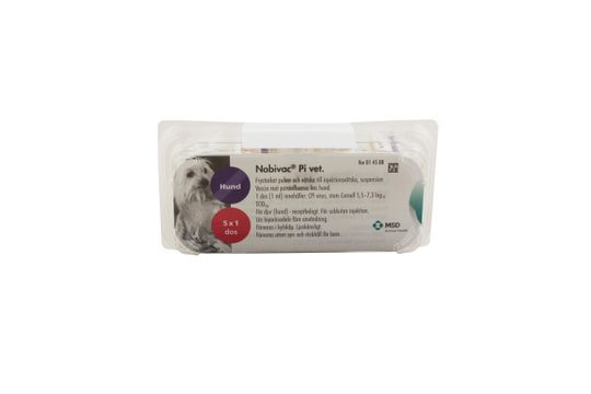 Nobivac Pi vet. Frystorkat pulver och vätska till injektionsvätska, suspension 5 x 1 dos(er)