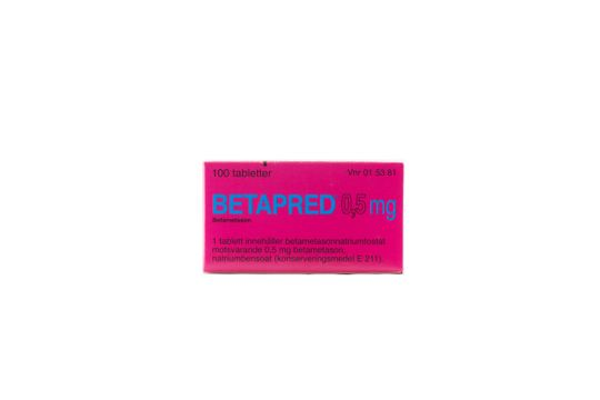 Betapred Tablett 0,5 mg Betametason 100 tablett(er)