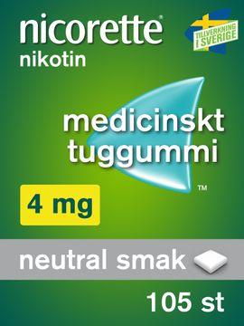 Nicorette 4 mg Medicinskt nikotintuggummi, 105 st