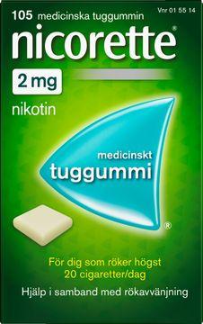 Nicorette 2 mg Medicinskt nikotintuggummi, 105 st