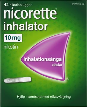 Nicorette Inhalator Vätska 10 mg Inhalationsånga med nikotin, 42 st
