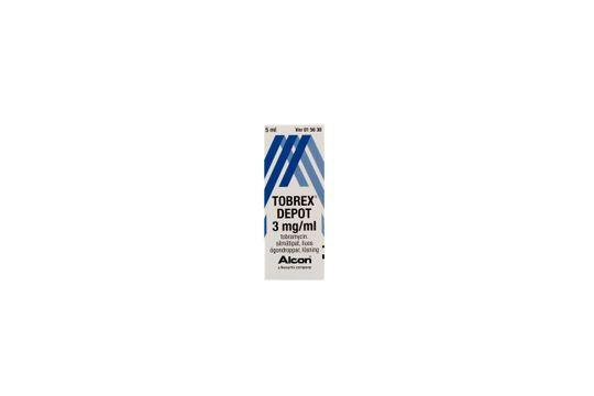 Tobrex Depot Ögondroppar, lösning 3 mg/ml 5 milliliter