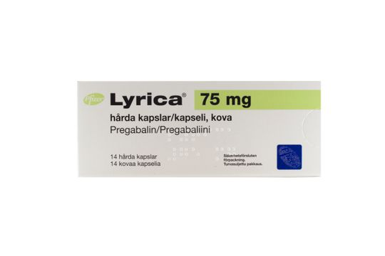 LYRICA Kapsel, hård 75 mg Pregabalin 14 kapsel/kapslar