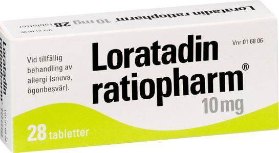 Loratadin ratiopharm Tablett 10 mg Loratadin 28 styck
