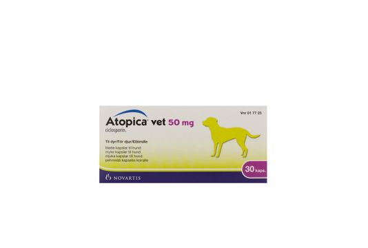 Atopica vet. Kapsel, mjuk 50 mg 30 kapsel/kapslar