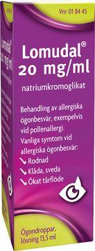 Lomudal Ögondroppar, lösning 20 mg/ml Natriumkromoglikat 13,5 milliliter