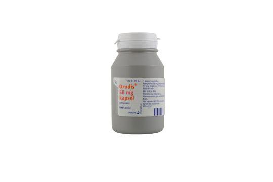 Orudis Kapsel, hård 50 mg Ketoprofen 100 kapsel/kapslar