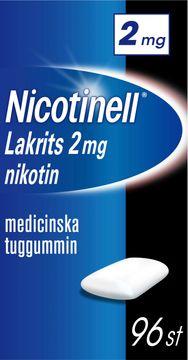 Nicotinell Lakrits Medicinskt nikotintuggummi, 2 mg, 96 st
