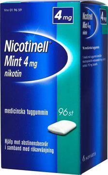 Nicotinell Mint Medicinskt nikotintuggummi, 4 mg, 96 st
